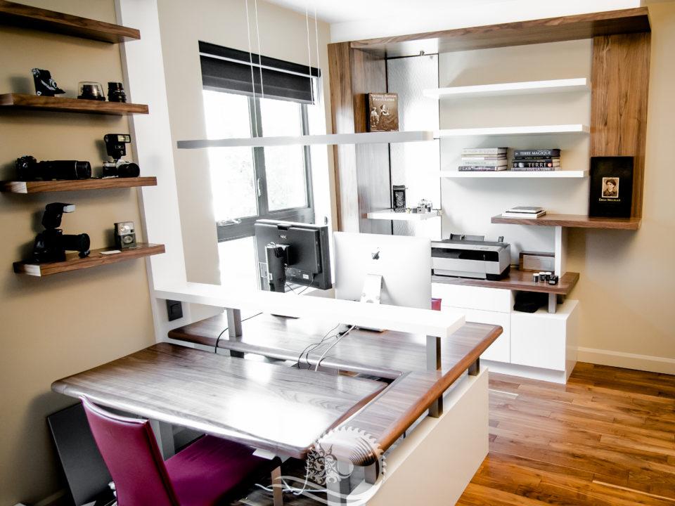 Bureau À La Maison, Mobilier Intégré – Yascha Savoie Ébéniste